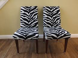 Zebra Accent Chair Relieving Zebra Print Parsons Chairs Zebra Print Parsons Chairs