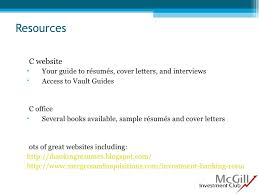 Mergers And Inquisitions Resume Resume And Cover Letter Workshop Sept 2009