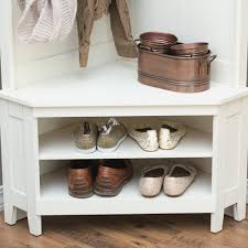 Southport Shoe Storage Bench With Cushion Entryway Furniture Ideas