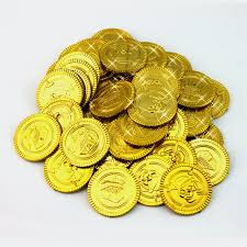 Treasure Chest Favors by Aliexpress Buy 100pcs Plastic Gold Silver Treasure Coins
