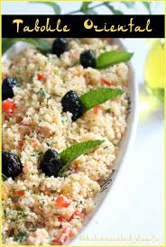 cuisine orientale recette taboulé semoule menthe et raisins recettes faciles
