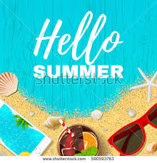 beautiful summer vacation background top view stock vector