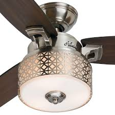 hunter camille 52 in brushed chrome indoor ceiling fan 59000