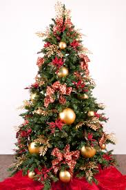 tree decorating ideas with luxury gold and baubles design