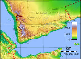 Elevation Map Of United States by Topographic Map Of Yemen Nations Online Project
