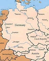 map germany austria austria germany map major tourist attractions maps