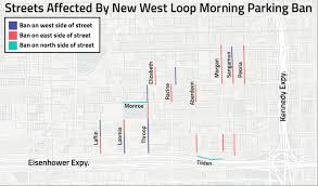 Chicago Heights Map by New West Loop Morning Parking Ban Here U0027s What Streets Are