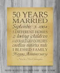50 year wedding anniversary gift 50th anniversary gift golden anniversary 50 years personalized