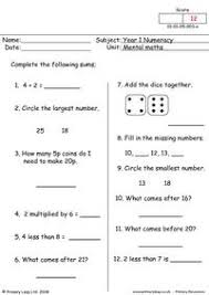 free mental maths printable resource worksheets for kids