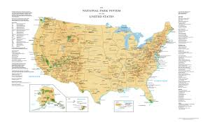 Washington Park Map by Us National Parks Wall Map