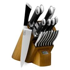 chicago cutlery kitchen knives chicago cutlery fusion knife block set 18 cutlery and more