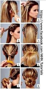 hairstyles with a hair donut ideas about doughnut bun hairstyles cute hairstyles for girls