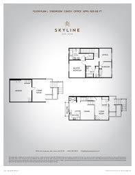 skyline 2 bedroom floor plan l skyline