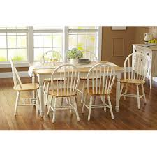 amazon com oak dining set a 7 piece traditional white and