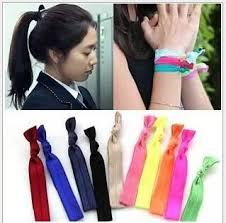 ribbon hair ties shimmery hair ties bracelet ribbon hair tie elastic