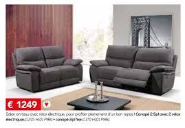 toff canapé meubles toff promotion salon en tissu avec relax électrique pour