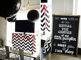 baby revealing ideas black and white gender reveal party baby shower ideas themes