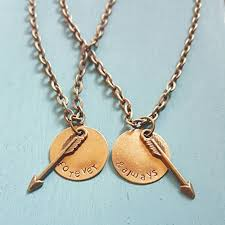 customizable necklace forever and always matching necklaces with arrow charm