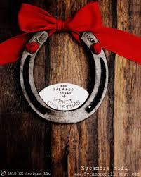 horseshoe ornaments horsenista christmas diy horseshoe ornaments nation