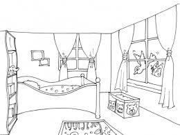 coloriage de chambre de fille coloriage chambre maison design endkal com