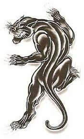 temporary black panther tattoo for make uptemporary black panther