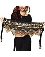 amazon coin black friday zltdream women u0027s belly dance wave shape hip scarf with silver