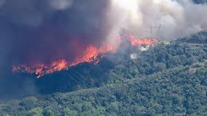 Glendora Wildfire Map by Mandatory Evacuations Ordered As 2 Wildfires Burn 4 500 Acres In