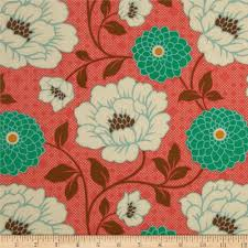 joel dewberry bungalow dahlia coral accent colors fabrics and