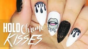 holo chrome kisses nail art nail art pinterest nail art