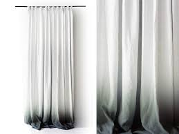 Grey Linen Curtains Ombre Linen Drapes Grey Fade To White Pinch Pleat Window