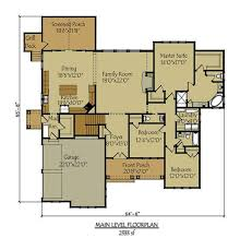 2300 Sq Ft House Plans Craftsman Style Lake House Plan With Walkout Basement Lake House