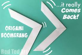 How Do You Make A Paper Boomerang - origami boomerang that comes back ted s