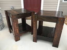 How To Make End Tables Out Of Pallets by Pallet End Table 10 Steps With Pictures