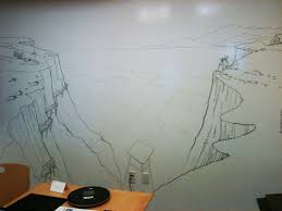 drawing on the world wall mural sketch landscape