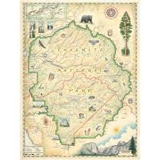 Map Of Yosemite Yosemite National Park Map Xplorer Maps