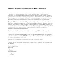 ideas of sample recommendation letter for about letter