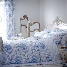 bedding sets matching quilt dunelm dorma blue toile bed linen