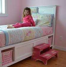 incredible twin bed with storage and headboard twin bed w bookcase