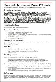 Resume Paragraph Example by Community Development Worker Cv Sample Myperfectcv