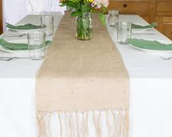 burlap table runners etsy