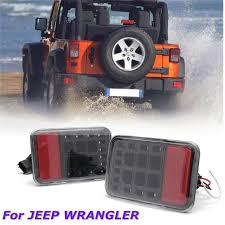 jeep wrangler backup lights pair clear lens led reverse backup l rear bumper tail light for