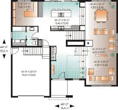 modern homes floor plans modern house plan with 2nd floor terace 21679dr architectural