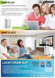 ace qnap lucky draw brochures from pc show 2016 singapore on tech