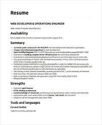 resume template download docker web developer resumes 9 free word pdf format download free