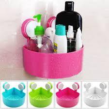 bathroom kitchen corner shelf with suction shower rack organizer