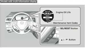 Reset Service Engine Soon Light Indicator Oil Reset Light Service Honda Cr V Indicator Reset