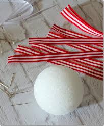 white ribbon ornaments