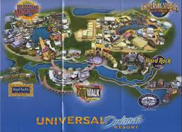 Orlando Florida Map Theme Park Brochures Universal Orlando Resort Theme Park Brochures