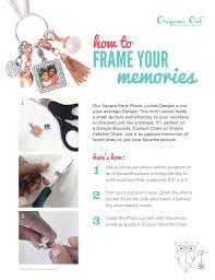 how to create an origami owl photo memory