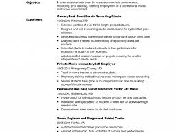 Sound Engineer Resume Sample Music Performance Resume Supplier Quality Engineer Cover Letter